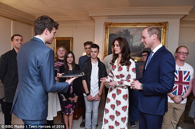 The Duke and Duchess of Cambridge have opened the doors of Kensington Palace to meet with with inspirational young people ahead of BBC Radio 1's Teen Awards.