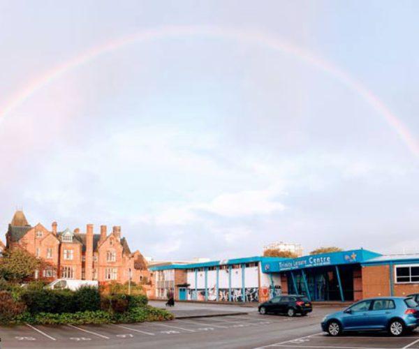 Rainbow over Trinity Car Park