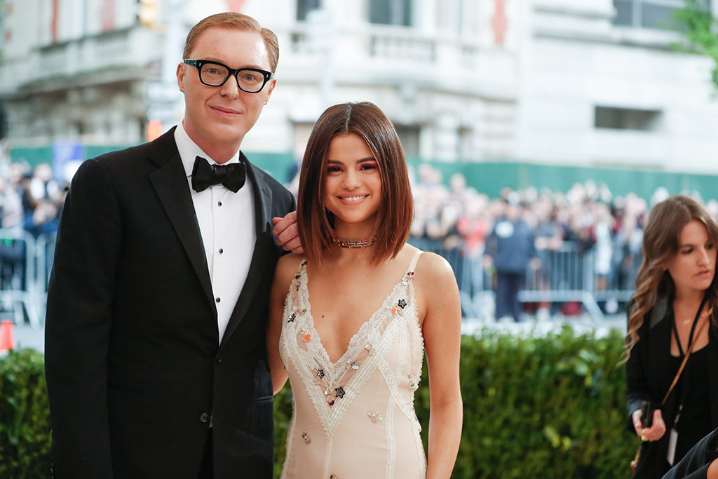 Top British Fashion Designer and former Trinity Student Stuart Vevers with Selena Gomez