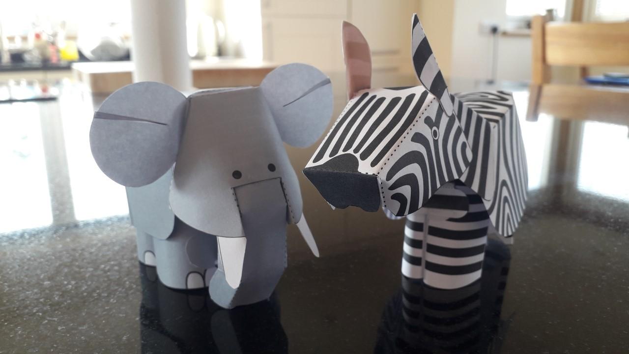 Elephant and Zebra  by Matthew Grieve