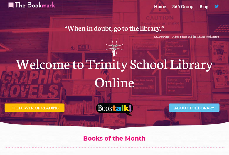 For the latest library information please visit our library website: The Bookmark