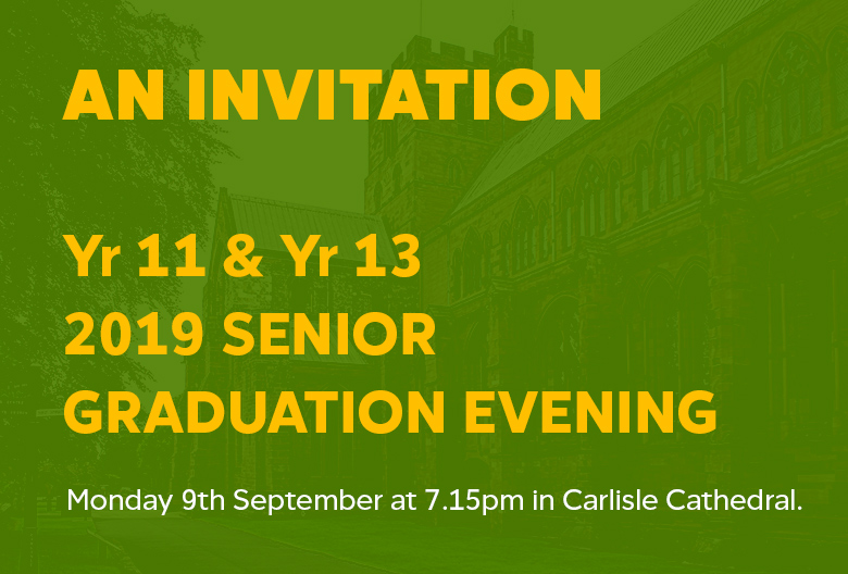 An Invitation - Monday 9th September at 7.15pm in Carlisle Cathedral